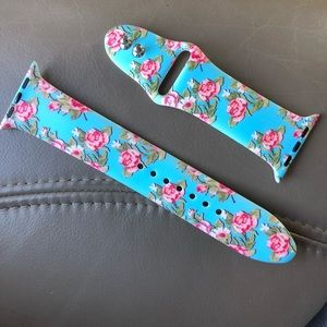 Accessories - Blue Floral Apple Watchband  Roses
